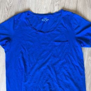 J. Crew Tops - J.crew Blue Garment Dyed Tee size small